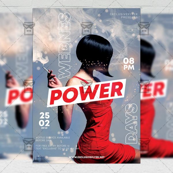 Wednesdays Power Template - Flyer PSD + Instagram Ready Size