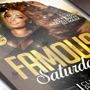 Famous Saturdays Template - Flyer PSD + Instagram Ready Size