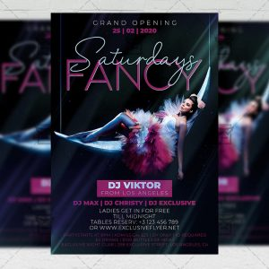 Fancy Saturdays Template - Flyer PSD + Instagram Ready Size
