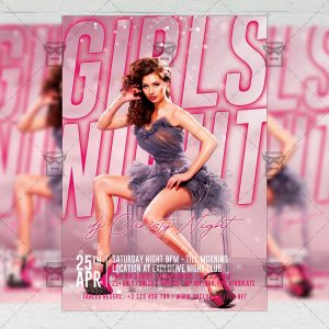 Girls Night Template - Flyer PSD + Instagram Ready Size