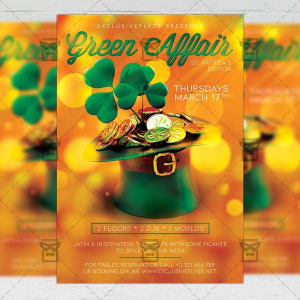 Green Affair Template - Flyer PSD + Instagram Ready Size