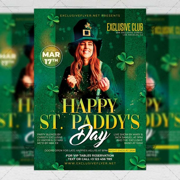 Happy St. Paddy's Day Template - Flyer PSD + Instagram Ready Size
