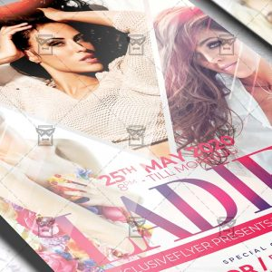 Ladies Night Party Template - Flyer PSD + Instagram Ready Size
