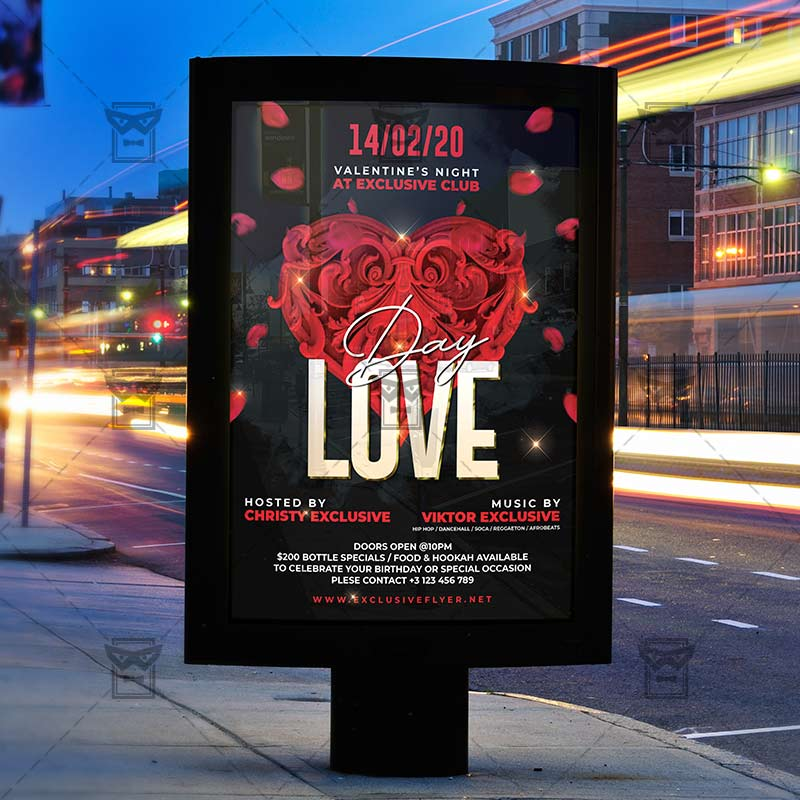 Love Day Template – Flyer PSD + Instagram Ready Size