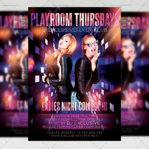 Playroom Thursdays Template - Flyer PSD + Instagram Ready Size