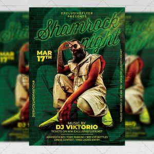 Shamrock Night Template - Flyer PSD + Instagram Ready Size