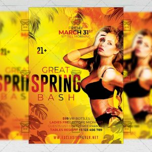 Spring Bash Template - Flyer PSD + Instagram Ready Size