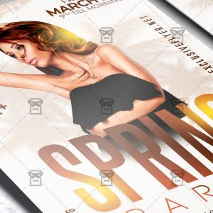 Spring Party Template - Flyer PSD + Instagram Ready Size