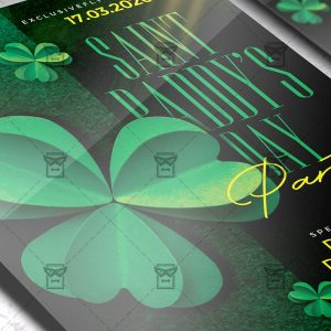 St. Paddy's Day Party Template - Flyer PSD + Instagram Ready Size