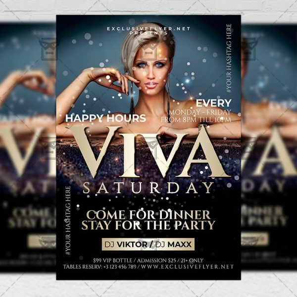 Viva Saturday Template - Flyer PSD + Instagram Ready Size