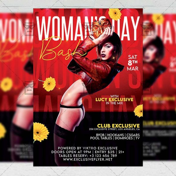 Woman's Day Bash Template - Flyer PSD + Instagram Ready Size