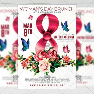 Woman's Day Brunch Template - Flyer PSD + Instagram Ready Size