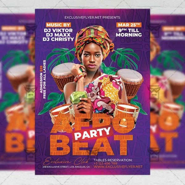 Afro Beat Party Flyer Template