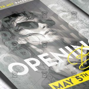 Bar Opening Template - Flyer PSD + Instagram Ready Size