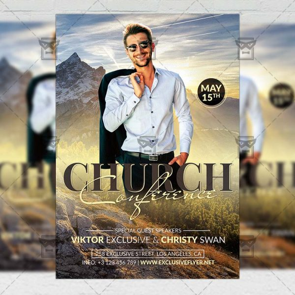 Church Conference Template - Flyer PSD + Instagram Ready Size