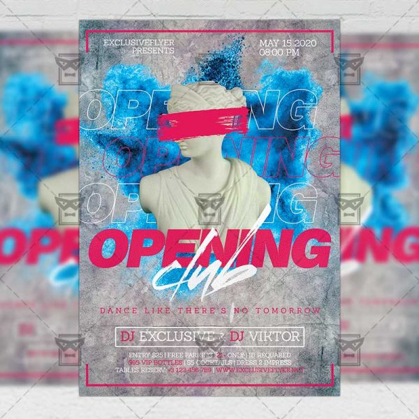 Club Opening Template - Flyer PSD + Instagram Ready Size