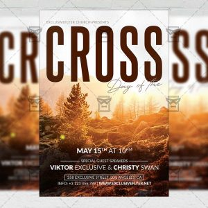 Cross Church Template - Flyer PSD + Instagram Ready Size