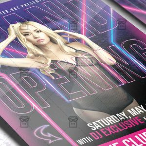 Grand Bar Opening Template - Flyer PSD + Instagram Ready Size