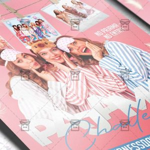 Pajamas Challenge Template - Flyer PSD + Instagram Ready Size