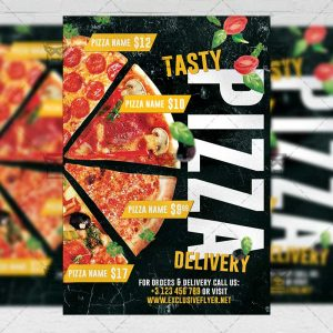 Pizza Delivery Template - Flyer PSD + Instagram Ready Size