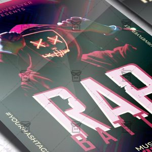 Rap Battle Template - Flyer PSD + Instagram Ready Size