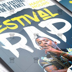 Rap Festival Template - Flyer PSD + Instagram Ready Size
