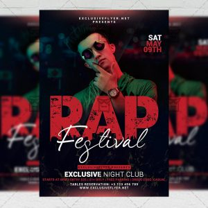 Rap Festival Event Template - Flyer PSD + Instagram Ready Size