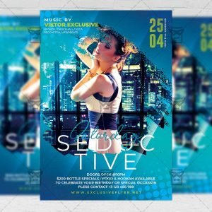Seductive Saturday Template - Flyer PSD + Instagram Ready Size