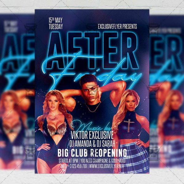 After Friday Party - Flyer PSD Template