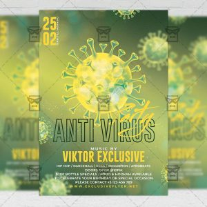 Anti Virus Party - Flyer PSD Template