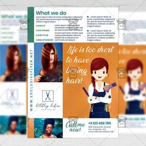 Hair Salon - Flyer PSD Template