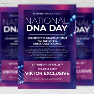 National DNA Day - Flyer PSD Template