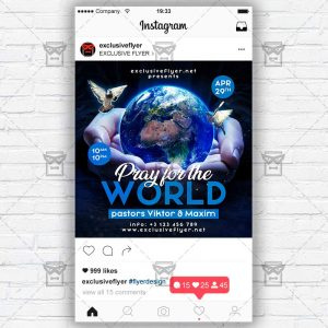 Pray for the World - Flyer PSD Template
