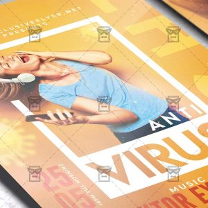 Anti Virus Night - Flyer PSD Template
