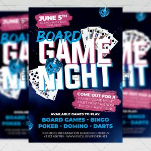Board Game Night - Flyer PSD Template