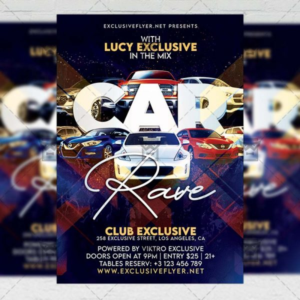 Car Rave Night - Flyer PSD Template