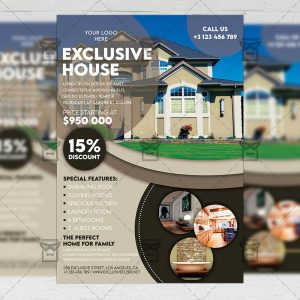 Exclusive Real Estate - Flyer PSD Template