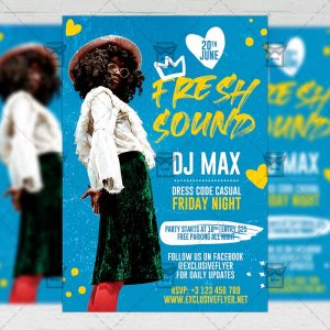 Fresh Sound - Flyer PSD Template