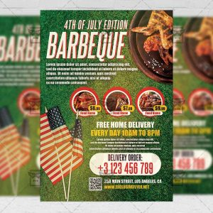 4th of July BBQ - Flyer PSD Template