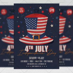 4th of July Celebration - Flyer PSD Template