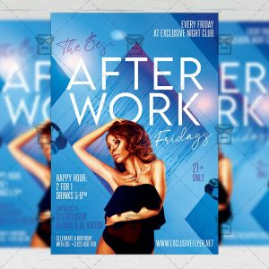 After Work Fridays - Flyer PSD Template