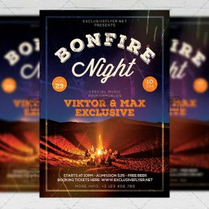 Bonfire Night - Flyer PSD Template