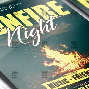 Bonfire Night Party - Flyer PSD Template
