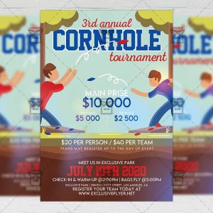 Cornhole Tournament - Flyer PSD Template