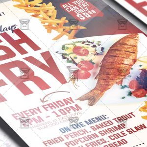 Fish Fry Family Fridays Template - Flyer PSD