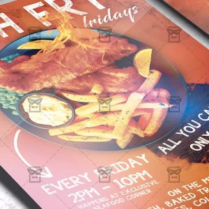 Fish Fry Fridays Template - Flyer PSD