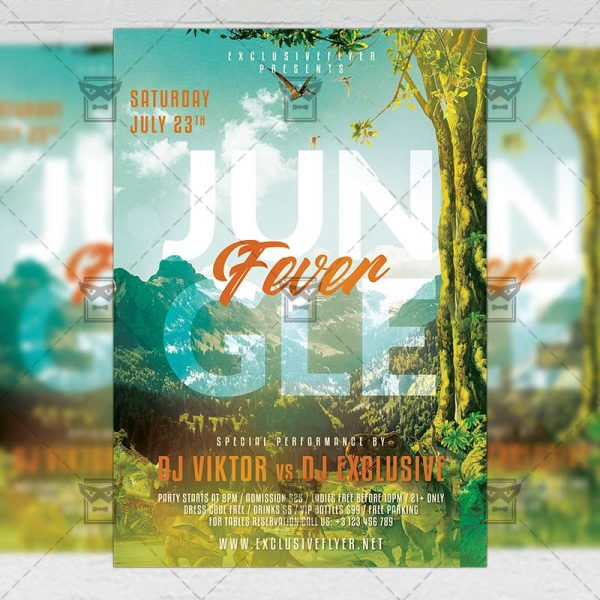 Jungle Fever - Flyer PSD Template