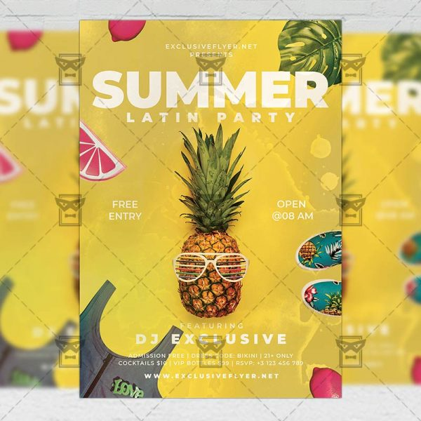 Latin Summer Party - Flyer PSD Template