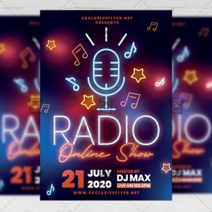 Online Radio Show - Flyer PSD Template