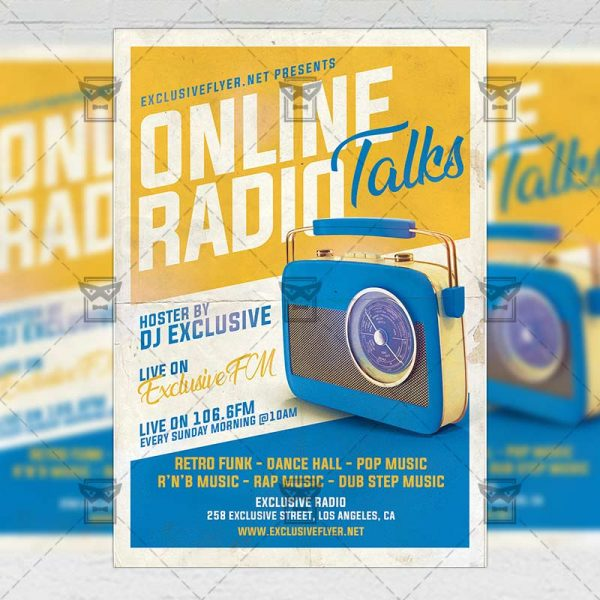Online Radio Talks - Flyer PSD Template